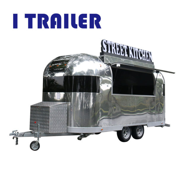 Multi-functional mobile four-wheeled fast food truck barbecue car can be licensed for business on the road