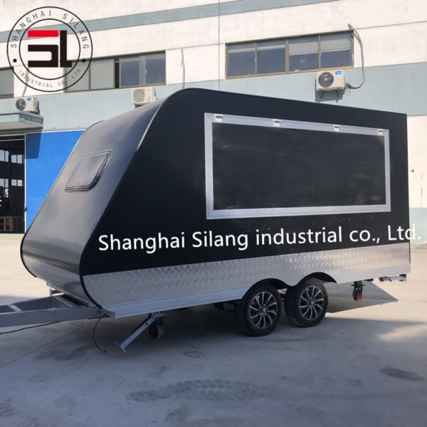 Factory export tow trailer multi-purpose snack truck mobile breakfast truck mobile sales truck