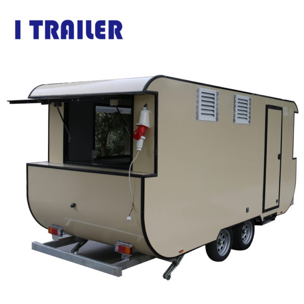 A stall can rent a four-wheeled dining car Mobile barbecue car breakfast car street view car