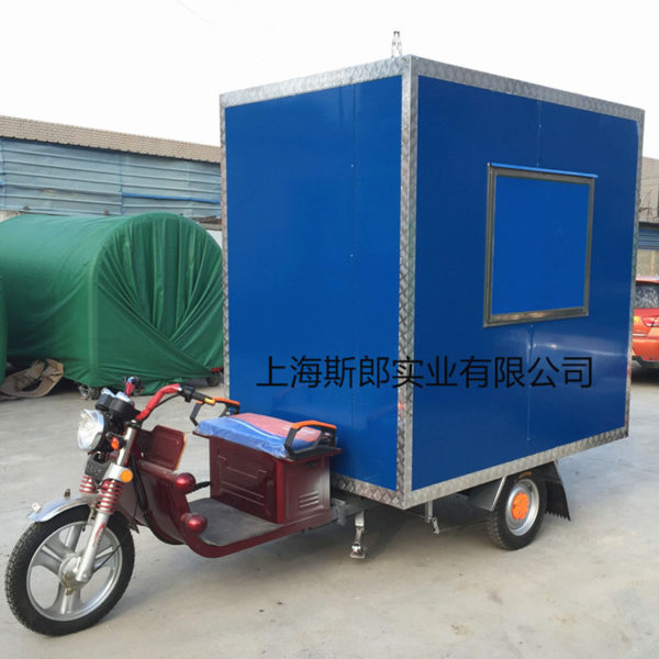 Electric three-wheeled dining car halogen barbecue fried chicken chops Lunch box lunch can be heated and ordered factory direct sales