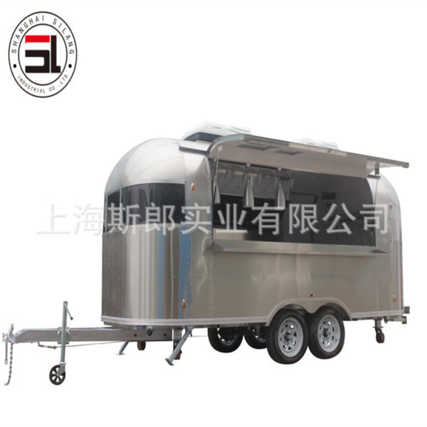 All stainless steel tractor snack trailer manufacturers export motorhome pizza burger ice cream truck