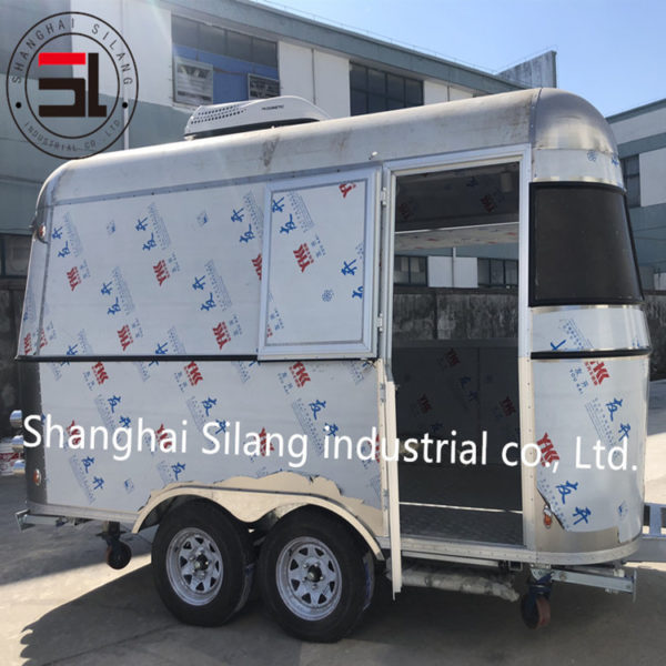 Tractor snack trailer manufacturer export stainless steel motorhome mobile trailer