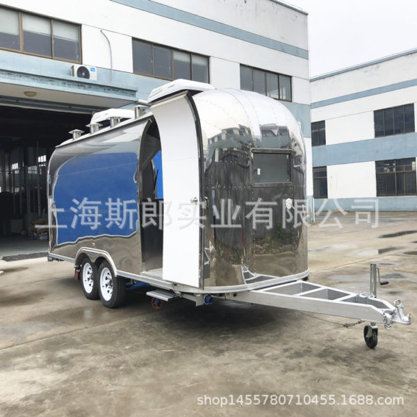 Export off-road camping motorhome towing gourmet fast food snack truck tow trailer manufacturers direct sales