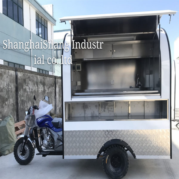 Factory direct sales with cab fuel three-wheeled snack truck night market stalls fried rice mobile shop