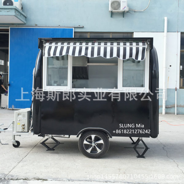 Factory export with rain shed tractor dining car outdoor mobile coffee drink car Kandong boiled spicy hot snack truck