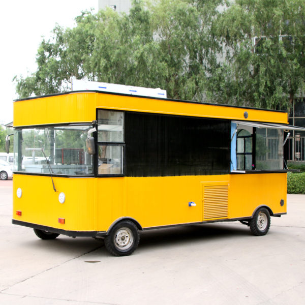 Snack car electric four-wheeled food truck mobile breakfast car multi-functional cold drink ice cream tea car commercial sales
