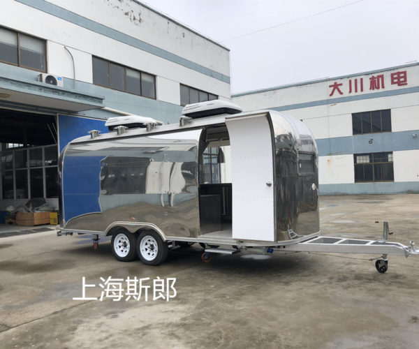 Factory export stainless steel motorhome gourmet dining car French fries fried chicken snack car can be customized