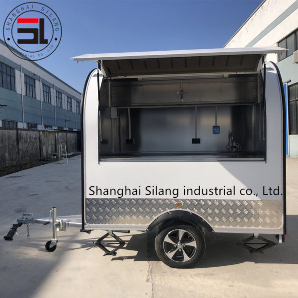 Factory's new tractor snack truck inside the all stainless steel European and American standard barbecue food truck mobile stall shop