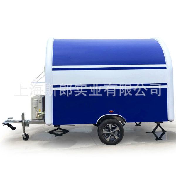 Factory custom European standard mobile tractor milk tea coriance waffle pizza trailer tractor