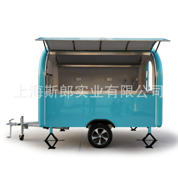 Custom mobile food truck exports Korea Europe and the United States Chile Japan mobile dining car milk tea cart with refrigerator