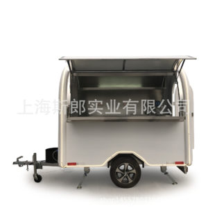 The wide-open version of the double-windowed gourmet dining car Subway mouth commercial street mobile snack cart mobile deli stalls
