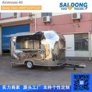 Custom multi-purpose breakfast car, stainless steel coffee cart, stainless steel food truck, motorhome dining car