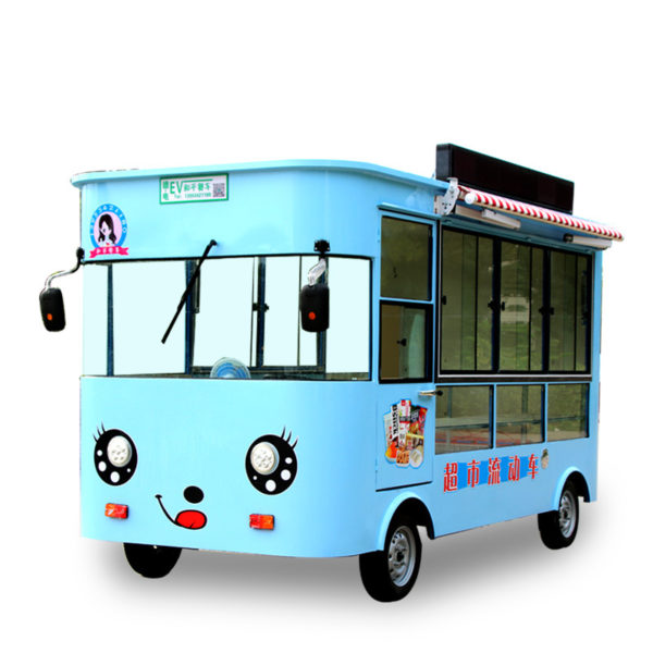 Snack car multi-purpose breakfast car electric four-wheeled mobile commercial fried truck stall trolley night market food truck