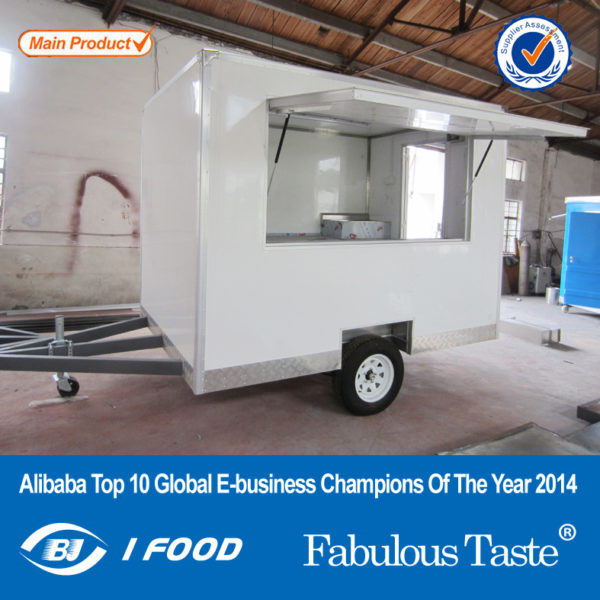 Export quality trailer sales truck multi-functional food snack car, fast food truck can be licensed