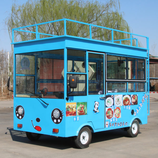 Electric snack car brine boiled sausage powder barbecue fast food car mobile night market stalls selling car stainless steel cart commercial