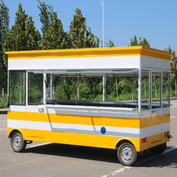 Electric four-wheeled snack car mobile barbecue car mobile night market stall barbecue spicy hot food truck manufacturers direct sales