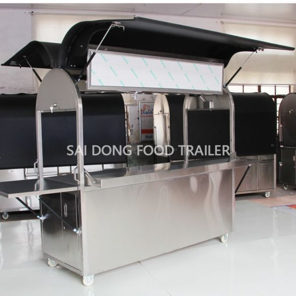 Manufacturers direct sales of stainless steel coffee carts, mobile coffee carts, mobile milk tea carts, trolleys