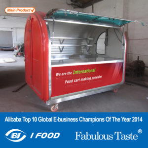 Special promotional trolley snack cart Gourmet motorhome mobile dining breakfast car can be ordered to be licensed