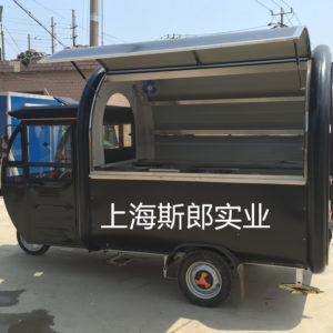 Manufacturers produce electric all-black snack car electric with rain shed pancake car electric hamburger car can be ordered