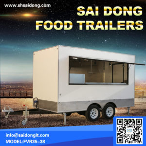 Scenic trailer, scenic food truck, mobile breakfast car, mobile coffee cart