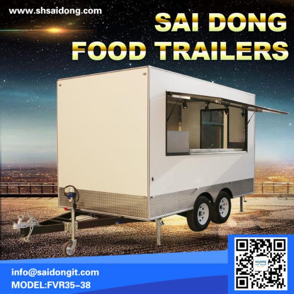 Scenic trailer, scenic food truck, mobile breakfast car, mobile coffee cart