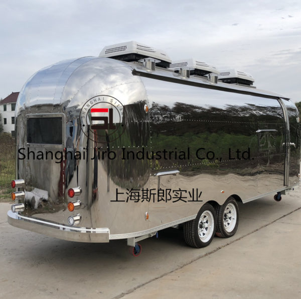 Factory direct export custom stainless steel tractor dining car resort amusement park mobile coffee cart