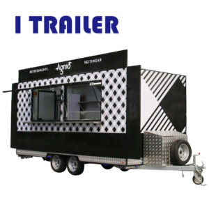 High-end stalls four-wheeled dining car mobile fast food truck can be rented can be licensed