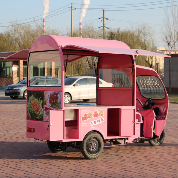Factory direct sales electric three-wheeled multi-functional mobile snack cart night market mobile stall food ice cream truck