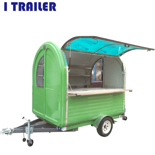 Multi-functional casual outdoor barbecue car Breakfast fast food car electric snack car can be licensed