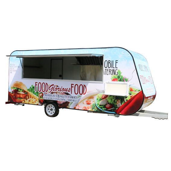 Multi-functional snack car manufacturers direct mobile pancakes early food ice cream fast food car can be licensed