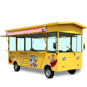 Multi-functional four-wheeled snack cart mobile stall electric fast food truck ice cream dessert mobile food truck custom