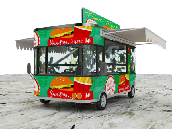 Snack car multi-purpose dining car electric four-wheeled commercial breakfast cart stall food dining car can be licensed