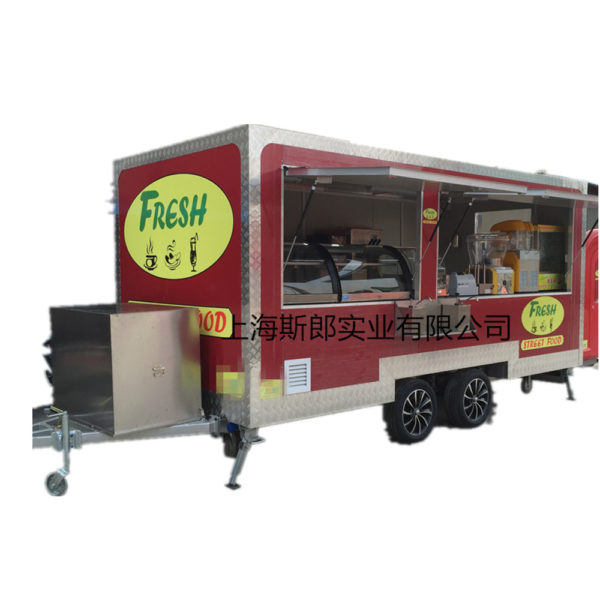 Export large-scale tractor breakfast truck Europe and the United States outdoor kiosk ice cream fried snack truck can be ordered