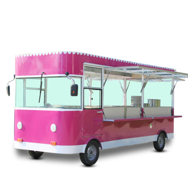 Snack car multi-purpose dining car electric four-wheeled stall car deep-fried iron plate barbecue car flow fast food motorhome