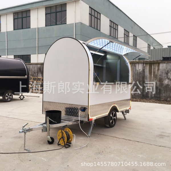 New multi-functional trailer-type snack cart Milk tea coffee ice cream truck Summer camp vacation mobile store
