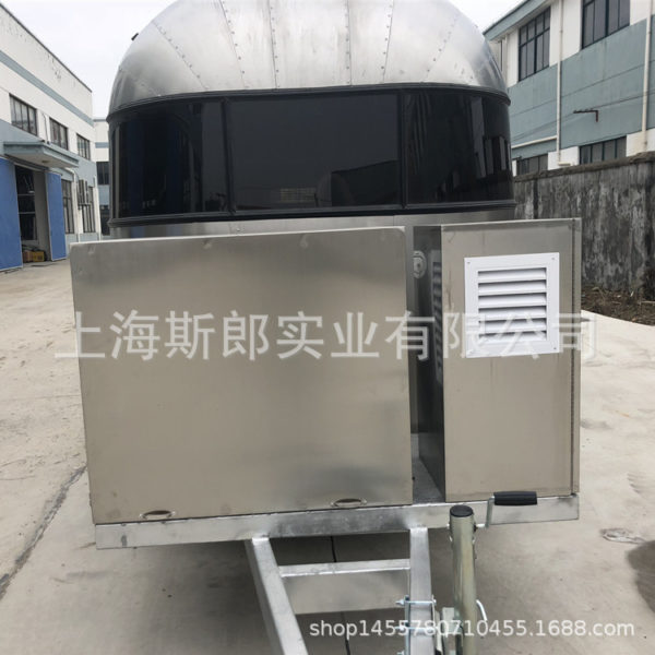 The new mobile trailer exports europe and the United States large rust-free wind motorhome food dining car