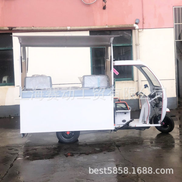Electric three-wheeled snack car, stall electric tricyle, electric breakfast car, electric food truck
