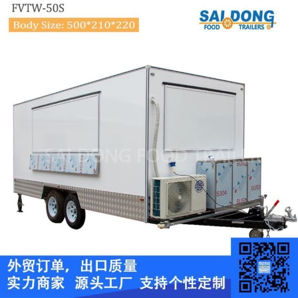 Manufacturers custom export food truck, trailer, coffee cart, multi-purpose food truck