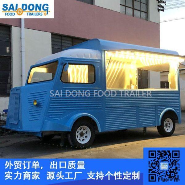 Rent and sell vintage Citroen gourmet car, retro Citroen coffee cart, retro scenic food truck
