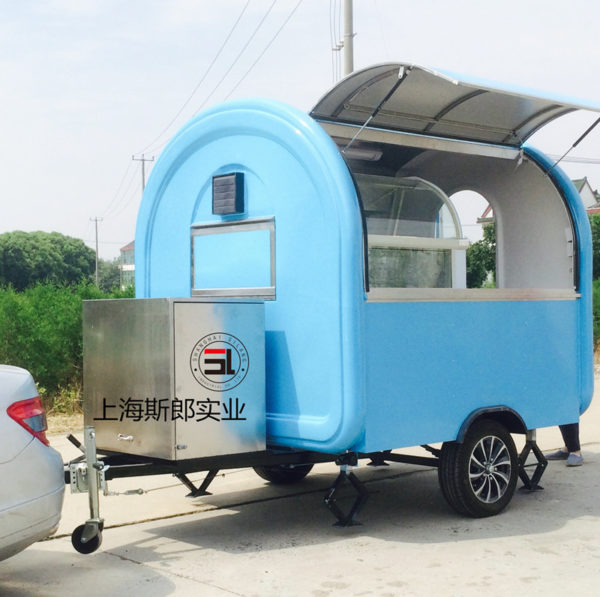 Multi-functional breakfast car Fashion night market barbecue fried and cooked all-in-one car can be ordered wholesale look cute motorhome