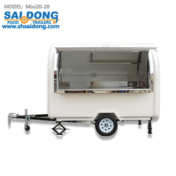 Race scenic dining carts, mobile vans, stalls selling from, ice cream dining carts food trailer
