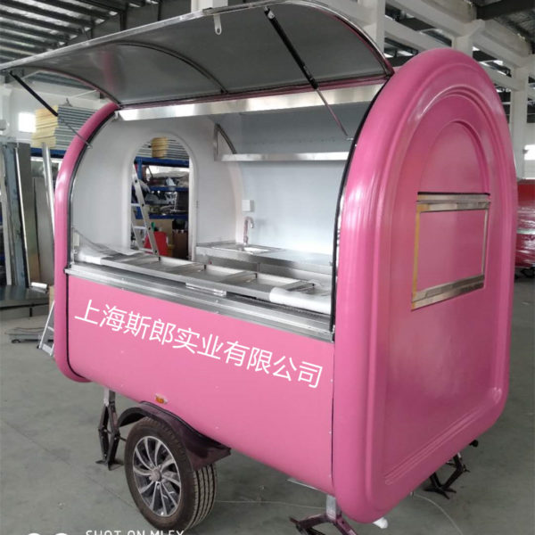 Manufacturers export tractor food trailer trailer trailer outdoor kiosk size color can be customized